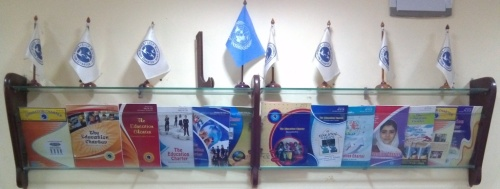 All Fourteen editions of The Education Charter Magazine displayed at Conference-Library Room of CCLP Worldwide