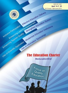 "The 15th Issue of the magazine ""The Education Charter"" released on 1st of April 2014. The preview of  Cover-page"